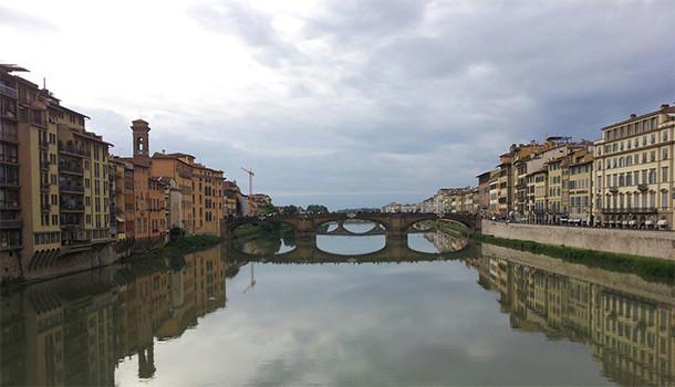Vista dal Ponte Vecchio di Firenze