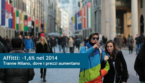 2014: caro affitti, scendono i prezzi