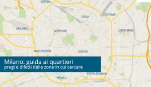 Mappa dei quartieri di Milano