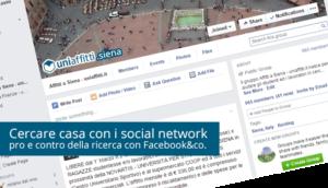 Cercare casa con i social network: pro e contro