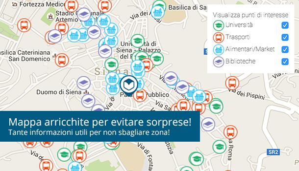 Informazioni geolocalizzate sulla mappa del tuo annuncio