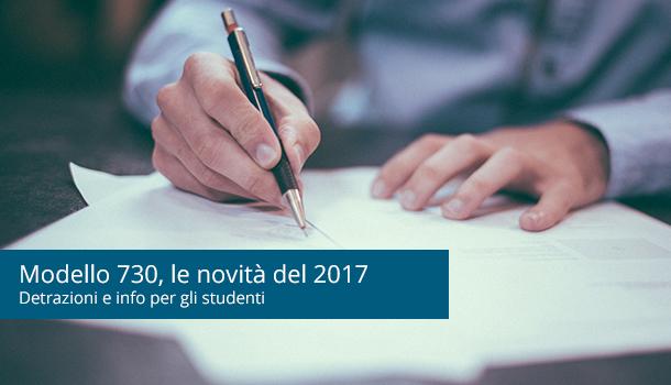 730 e Detrazioni d'Affitto Studenti: le Novità 2017